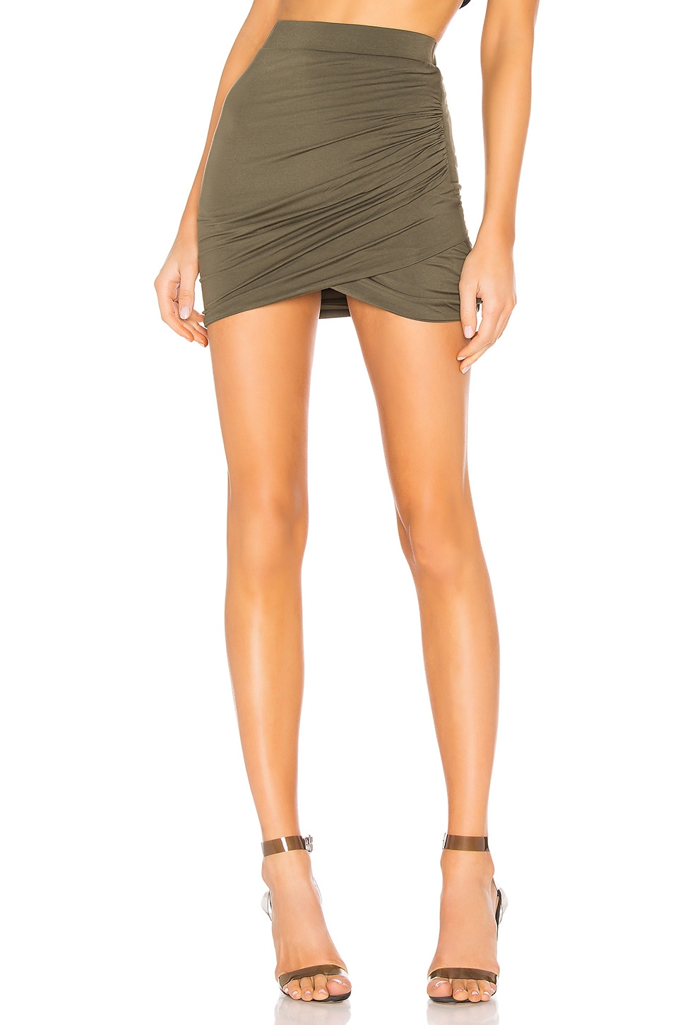 Lovers + Friends Voyage Skirt in Army Green