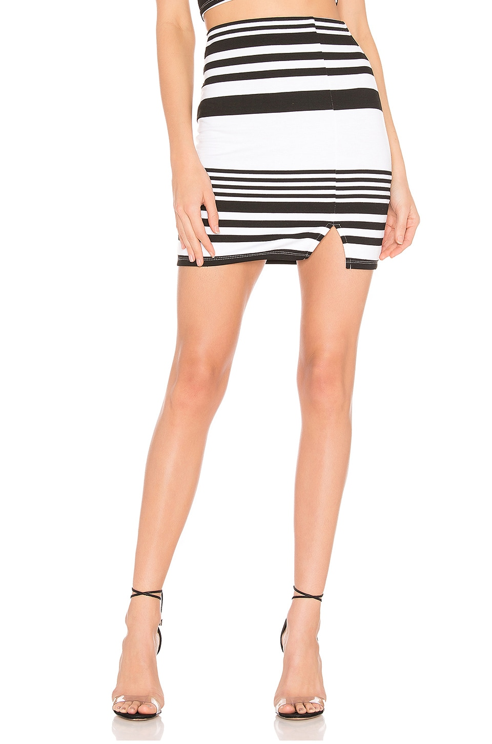 Lovers + Friends Mari Mini Skirt in Black & White