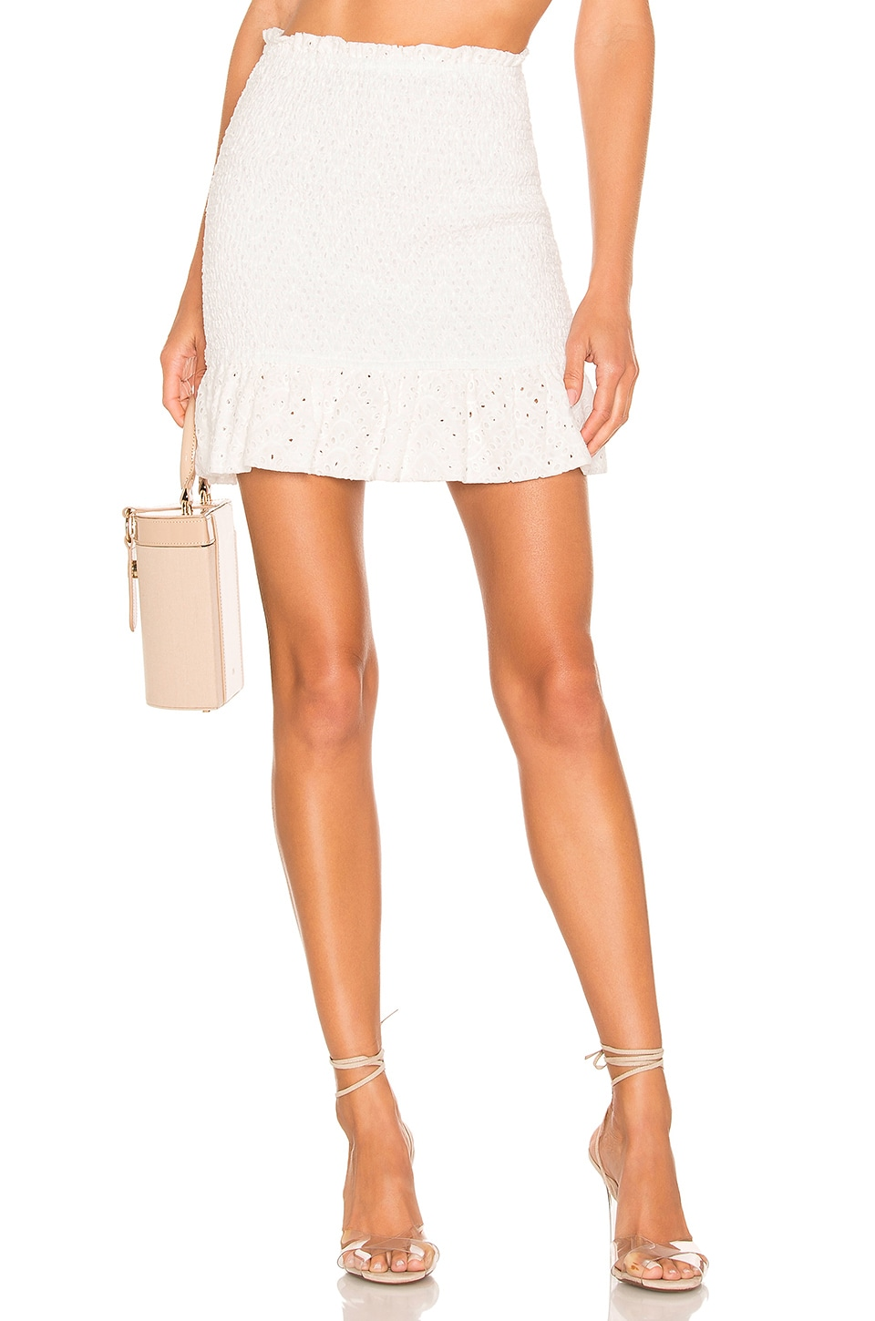 Lovers + Friends Cecile Mini Skirt in White