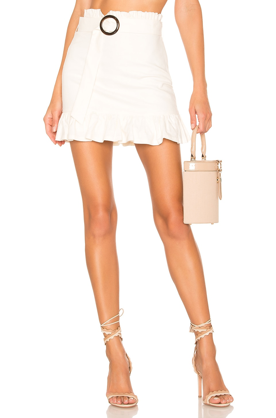Lovers + Friends Camden Mini Skirt in White