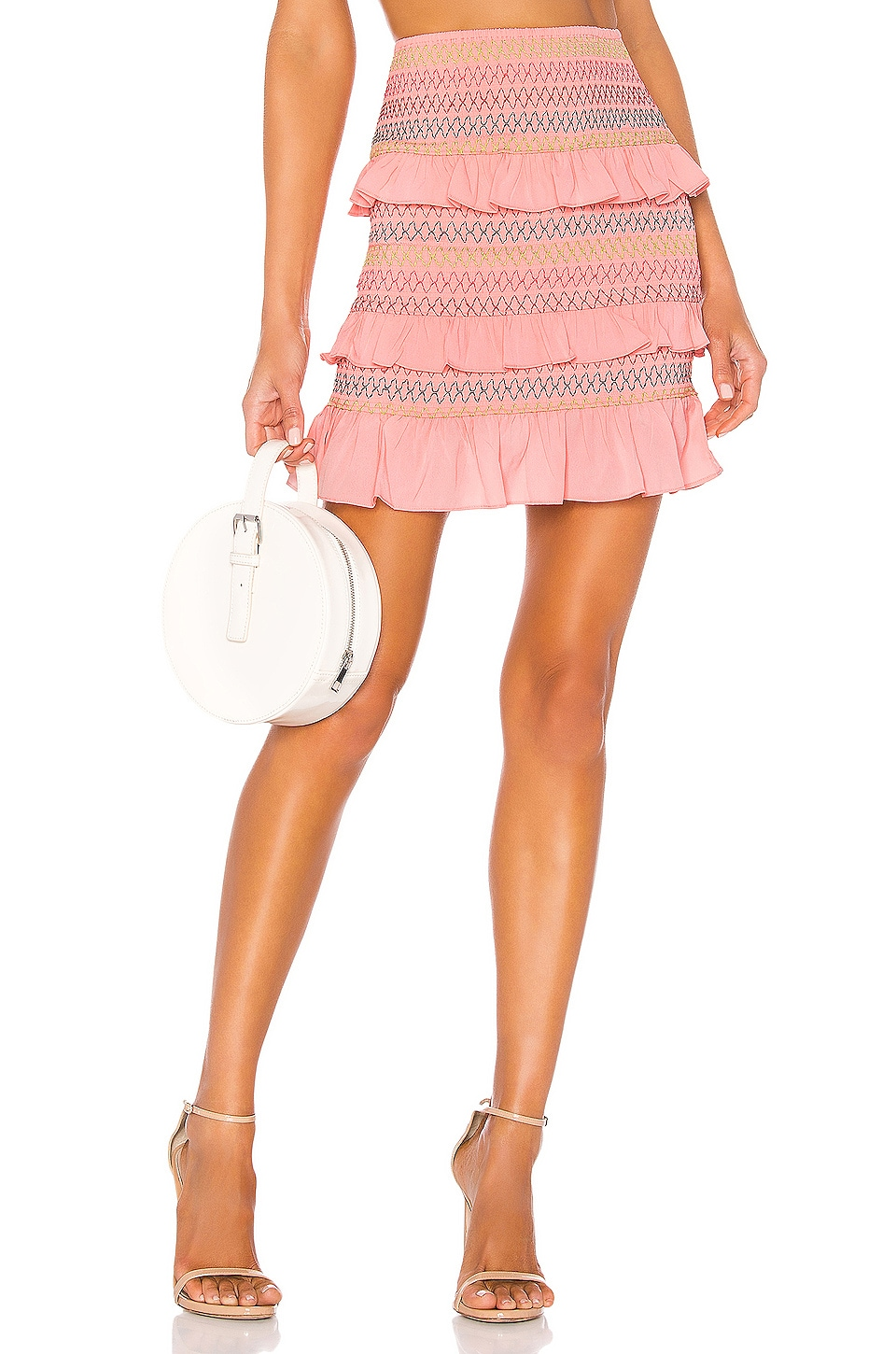 Lovers + Friends Kora Mini Skirt in Pink Lemonade