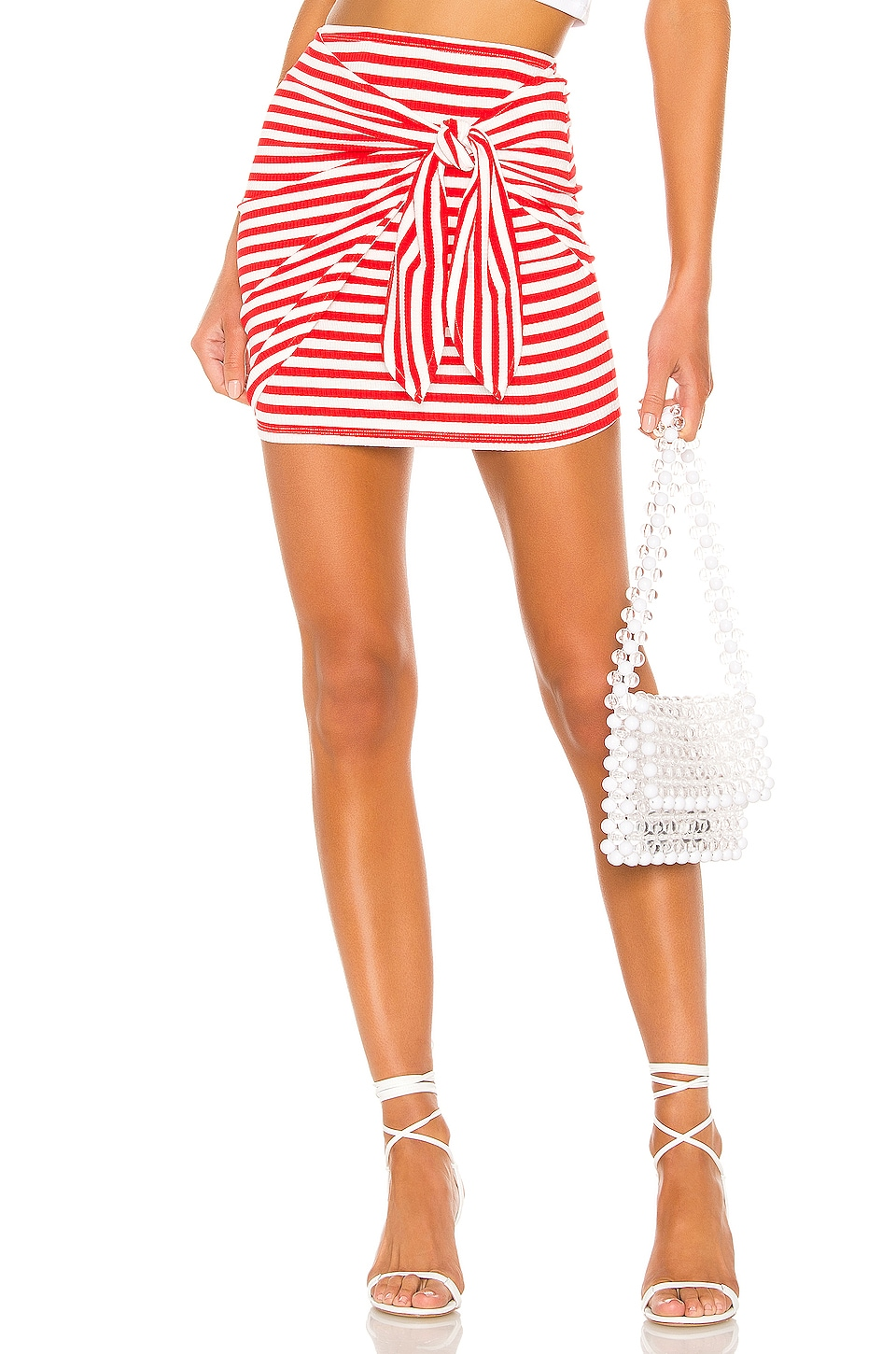 Lovers + Friends Morby Mini Skirt in Red & White