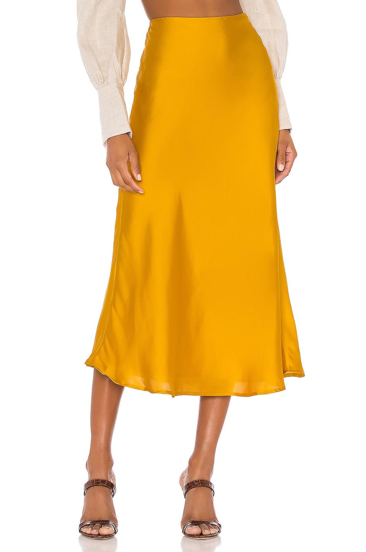 Lovers + Friends Madalena Midi Skirt in Sunflower Yellow
