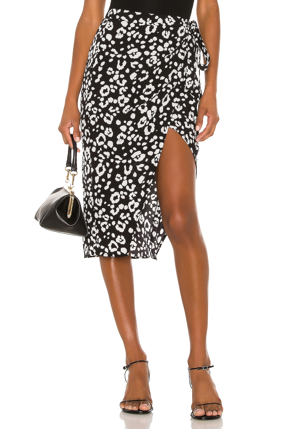 Lovers + Friends Marla Skirt in Black Leopard