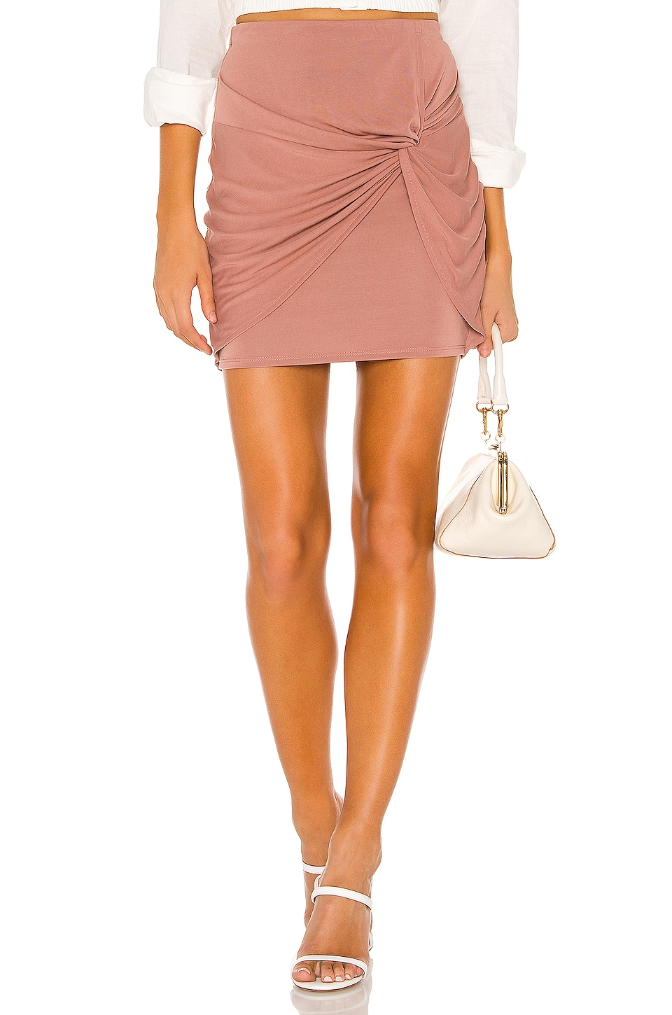 Lovers + Friends Camila Skirt in Mink Pink