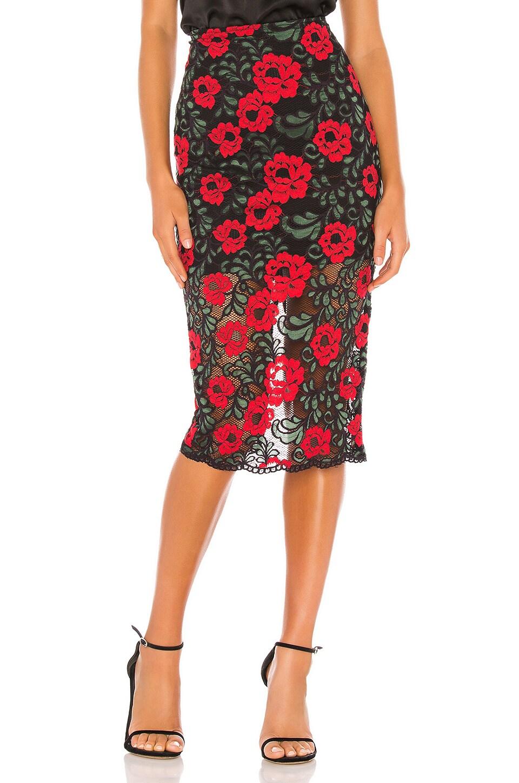 Lovers + Friends Camila Midi Skirt in Rose Garden