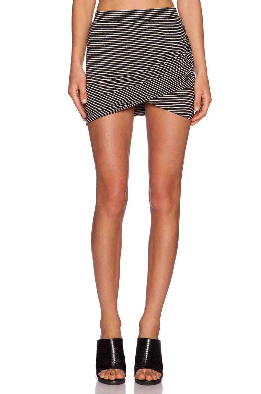 Lovers + Friends Voyage Skirt in Black & White Stripe