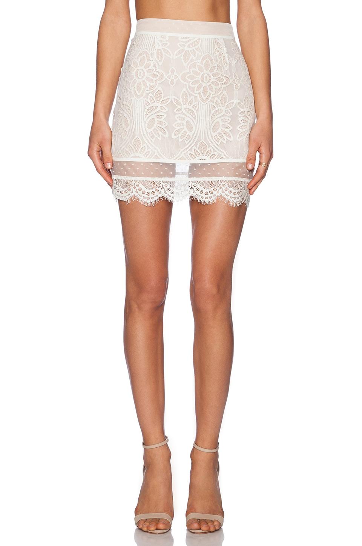Lovers + Friends Ella Mini Skirt in Ivory