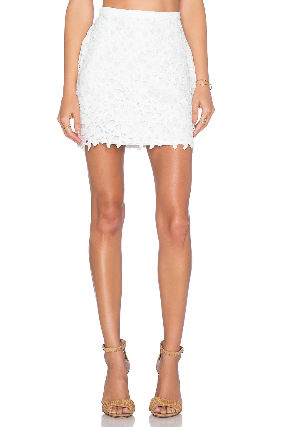 Lovers + Friends x REVOLVE Kiss Me Skirt in White