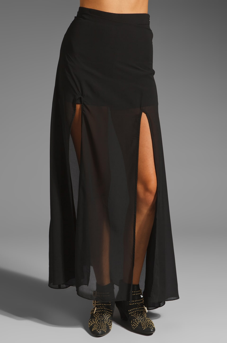 Lovers + Friends One and Only Maxi Skirt in Black