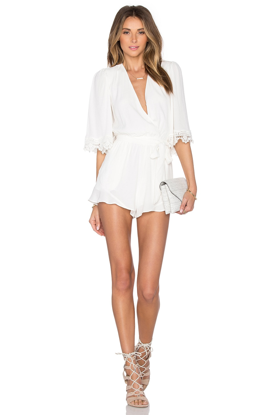 Lovers + Friends Reese Romper in Ivory
