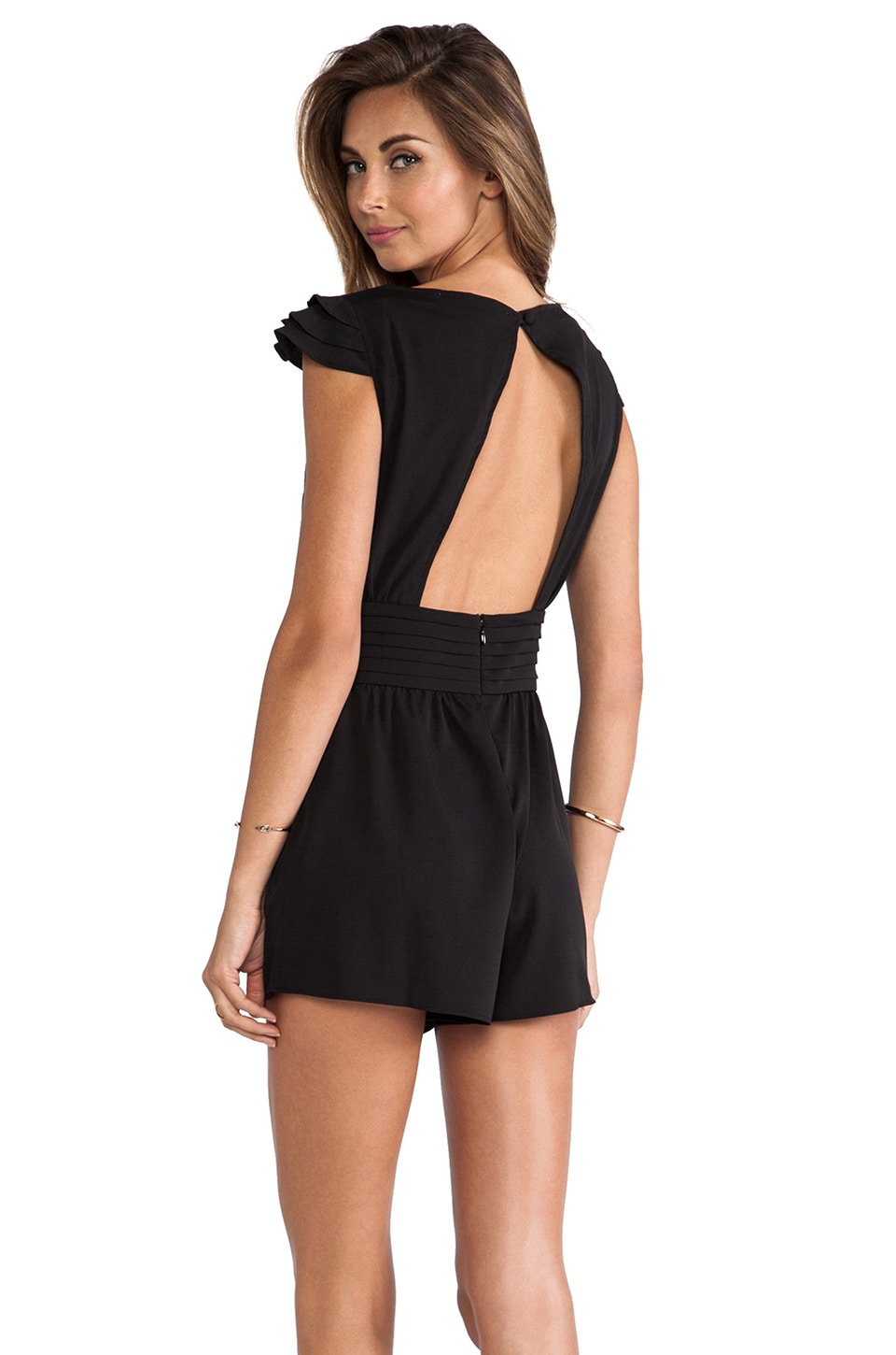 Lovers + Friends You and I Romper in Black