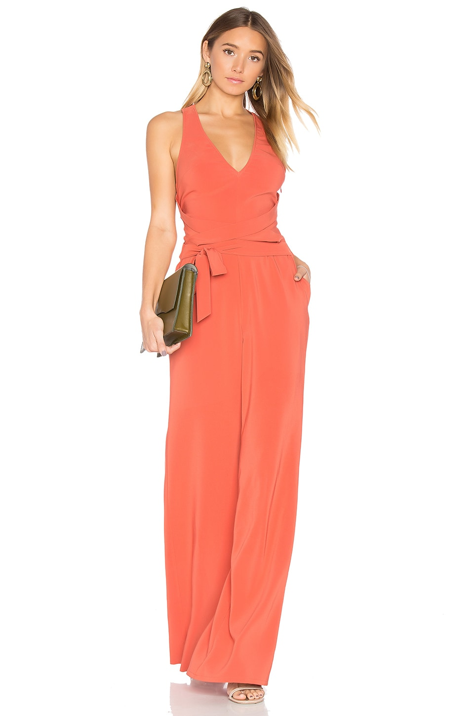 Lovers + Friends x REVOLVE X Marks The Spot Jumpsuit in Blood Orange