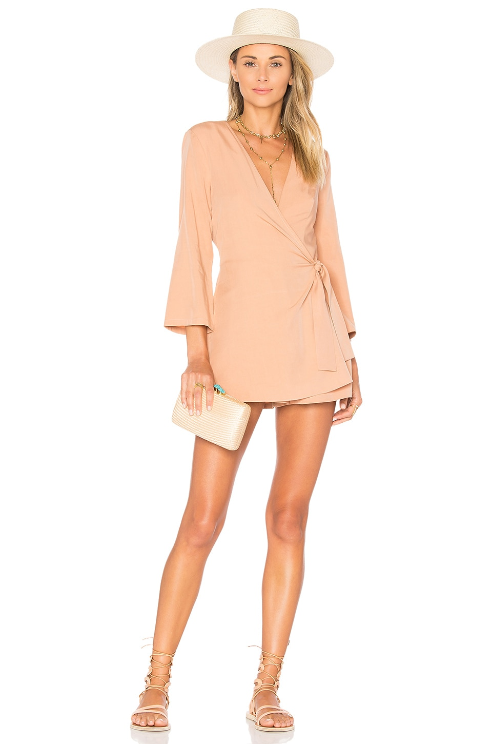 Lovers + Friends Crush Romper in Dusty Pink
