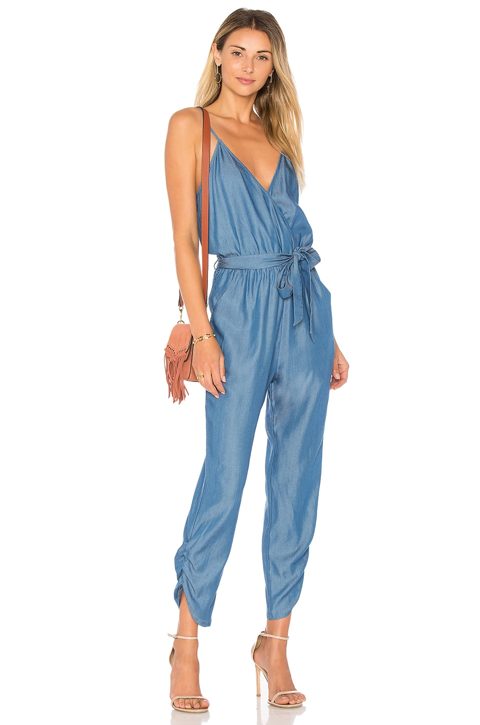 Lovers + Friends Emily Jumpsuit in Light Ocean