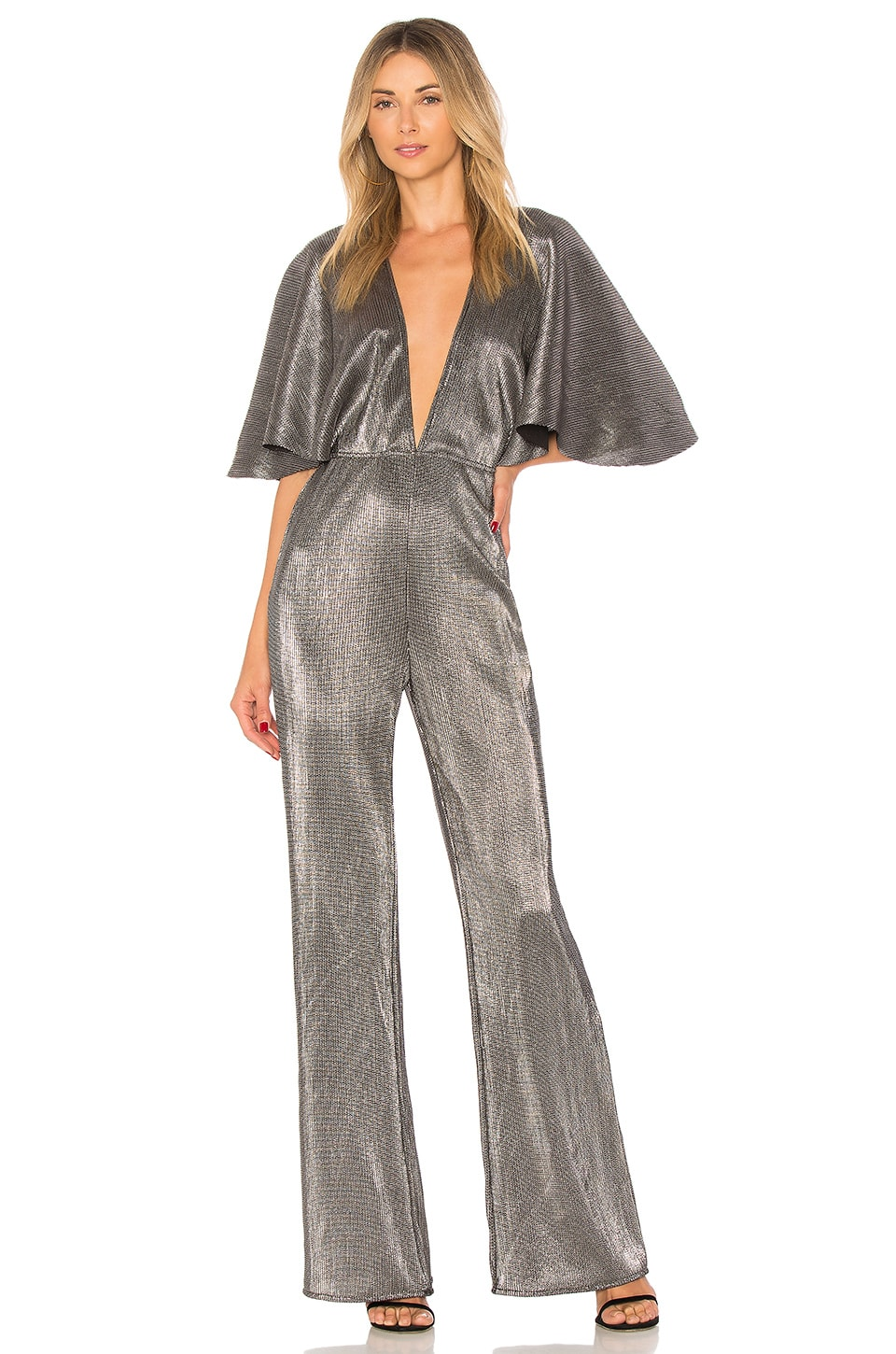 Lovers + Friends Harper Jumpsuit in Silver