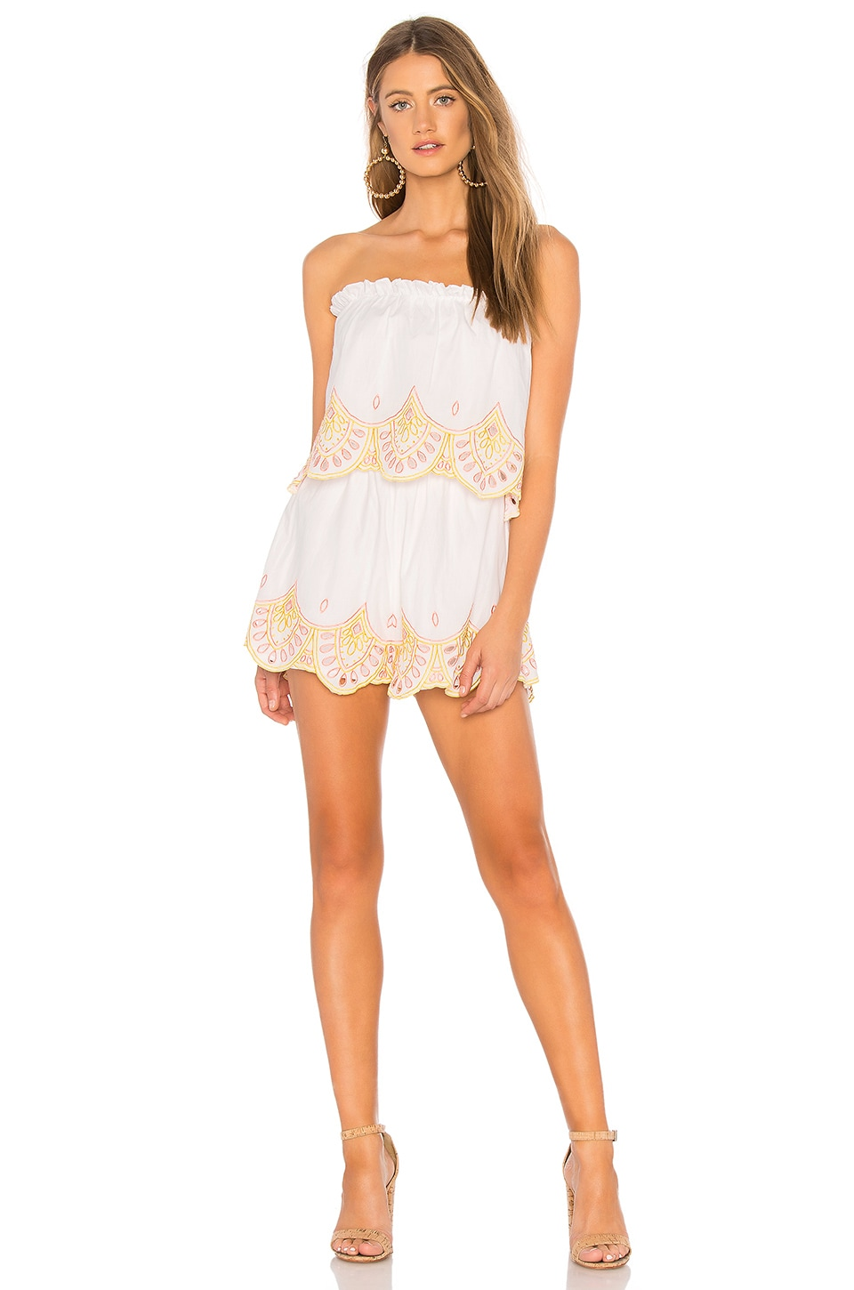 Lovers + Friends Kristine Romper in Sunset