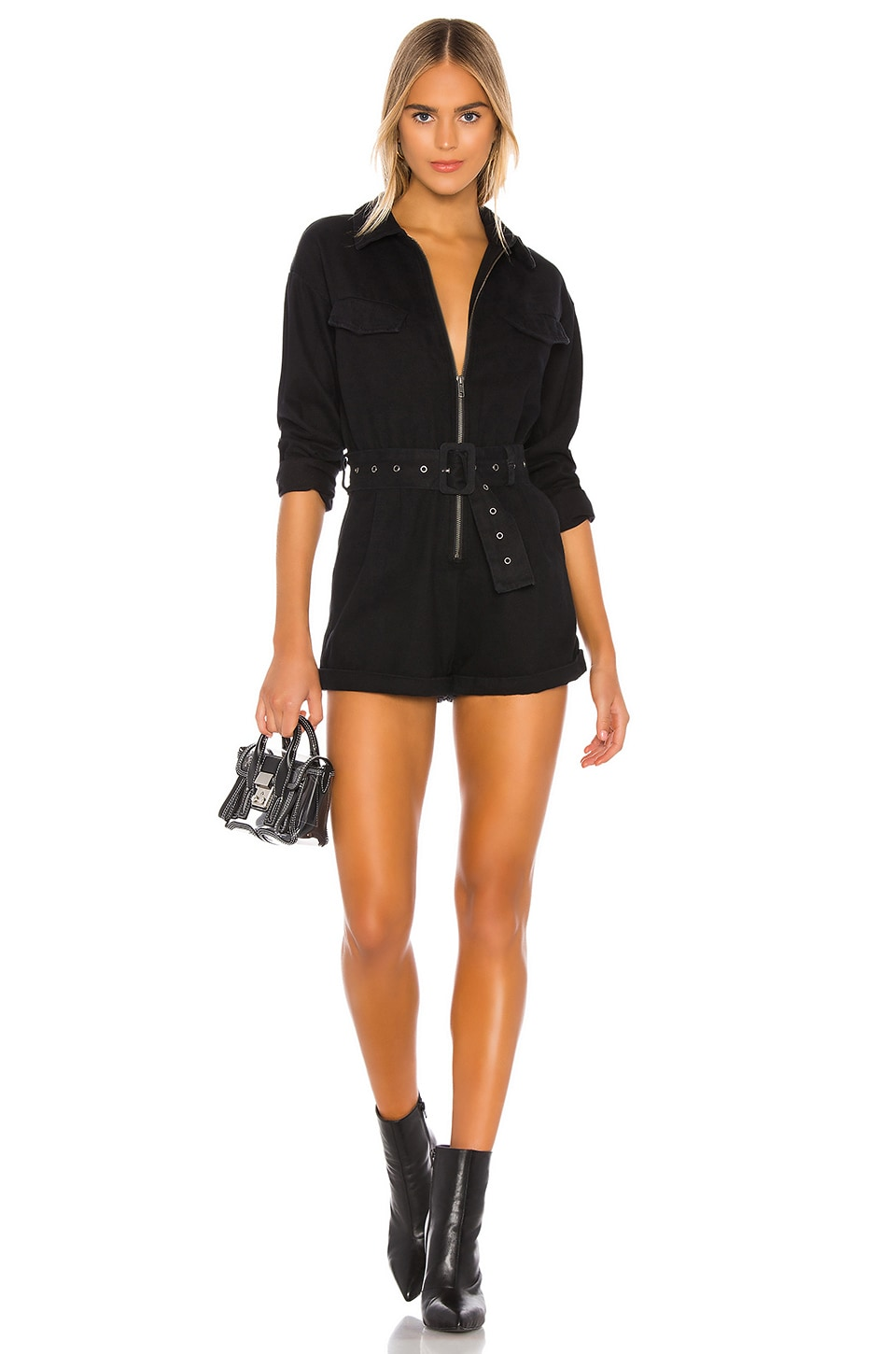 Lovers + Friends Ryland Romper in Black