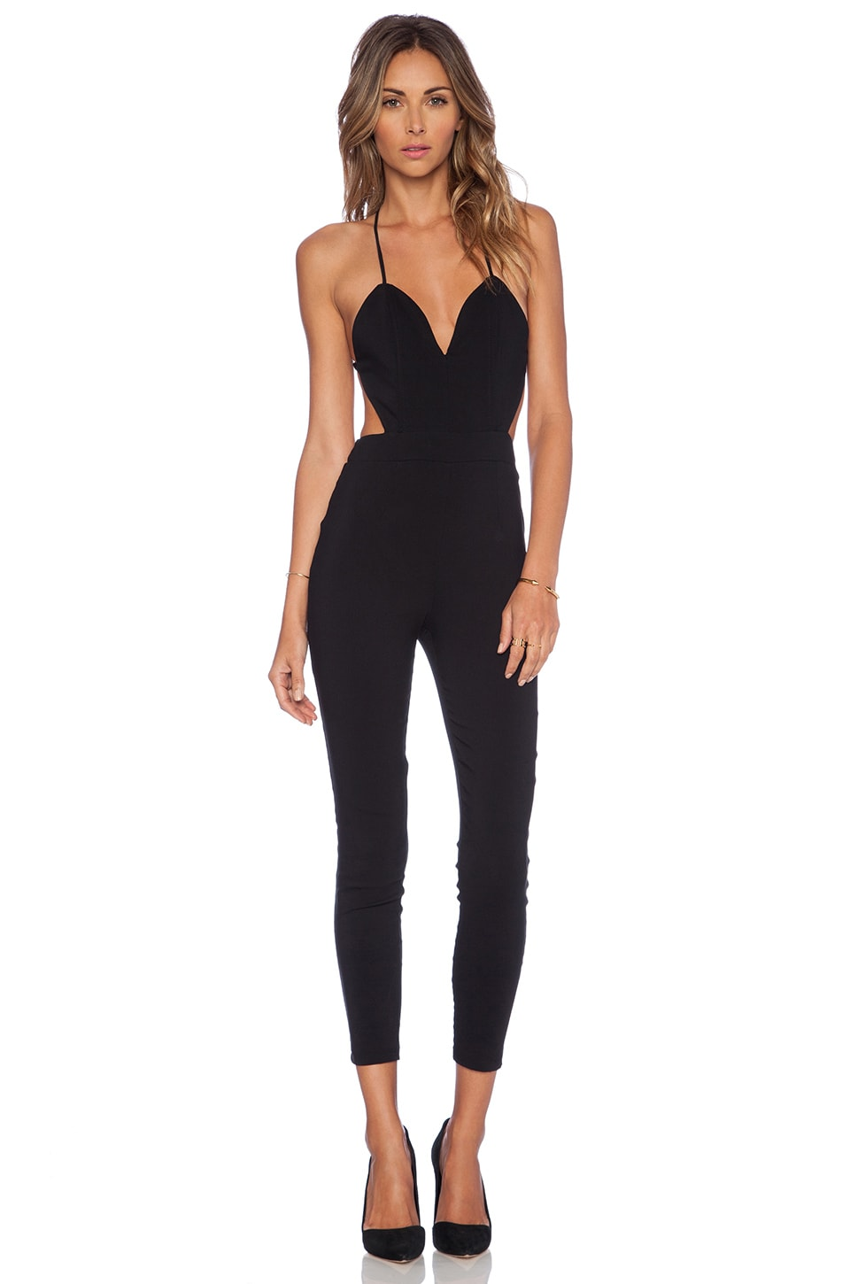 Lovers + Friends Jhene Aiko for Lovers and Friends Let's Be Real Jumpsuit in Black