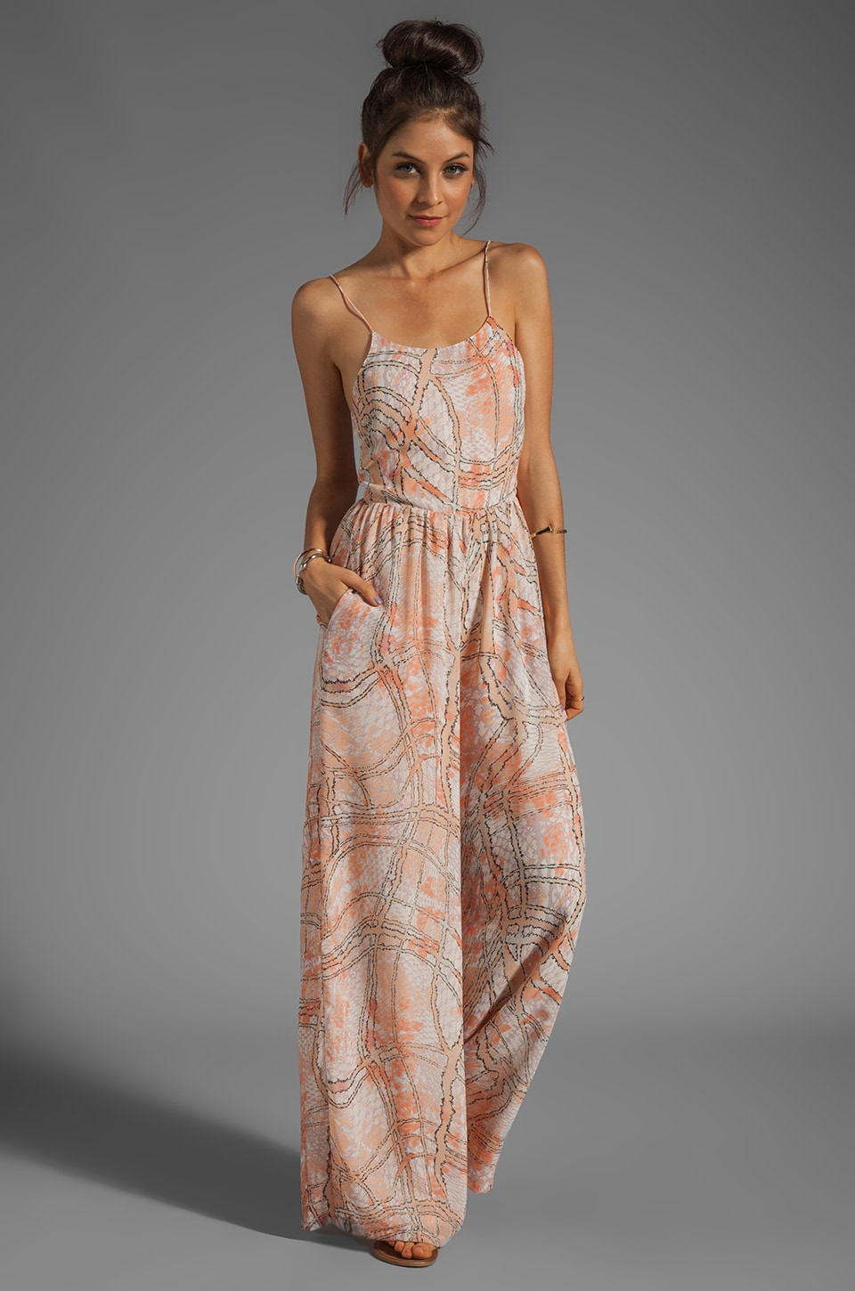 Lovers + Friends Caliente Jumpsuit in Abstract Pastel