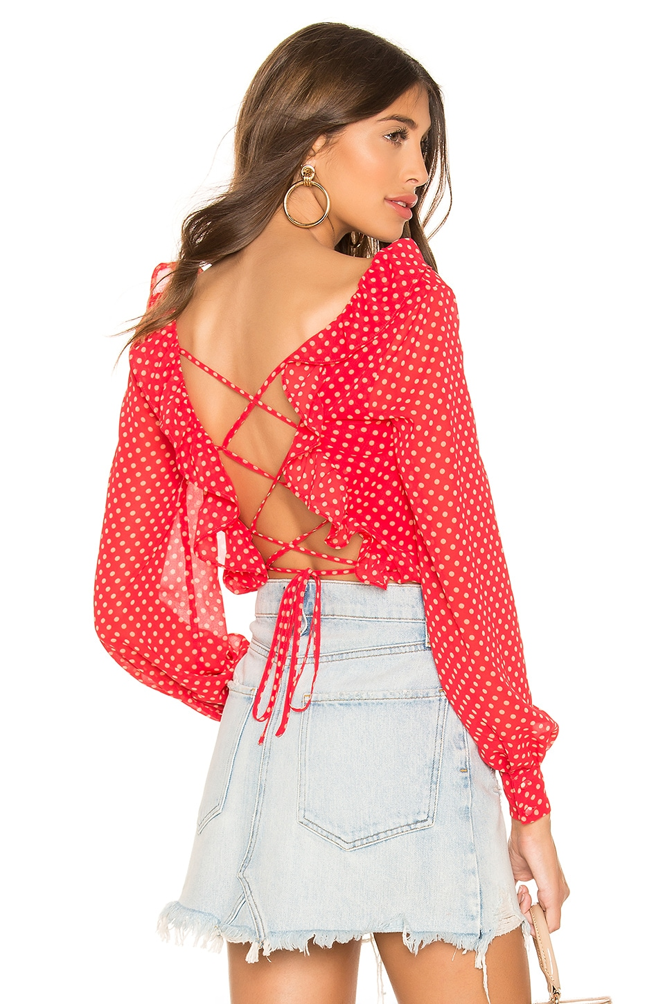 Lovers + Friends Lennox Top in Strawberry & Peach