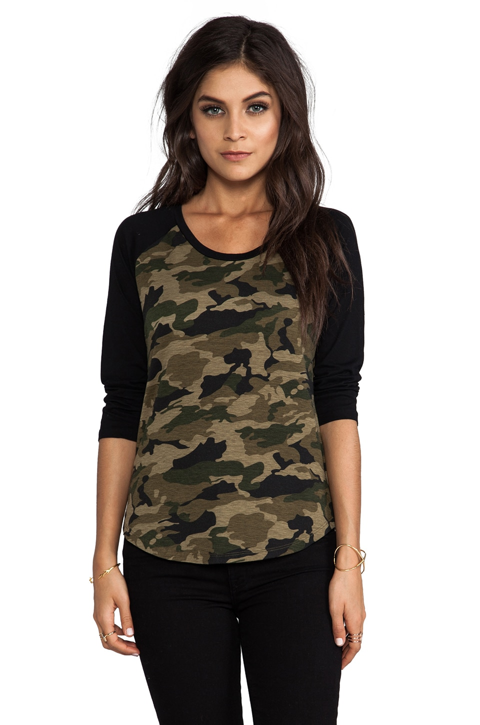 Lovers + Friends for REVOLVE Baseball Tee in Camo