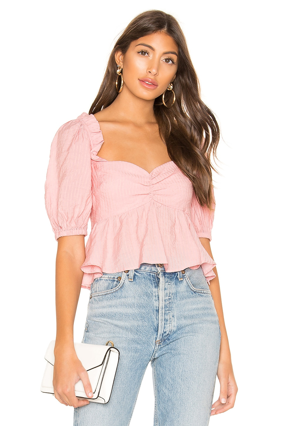 Lovers + Friends Vanessa Top in Coral