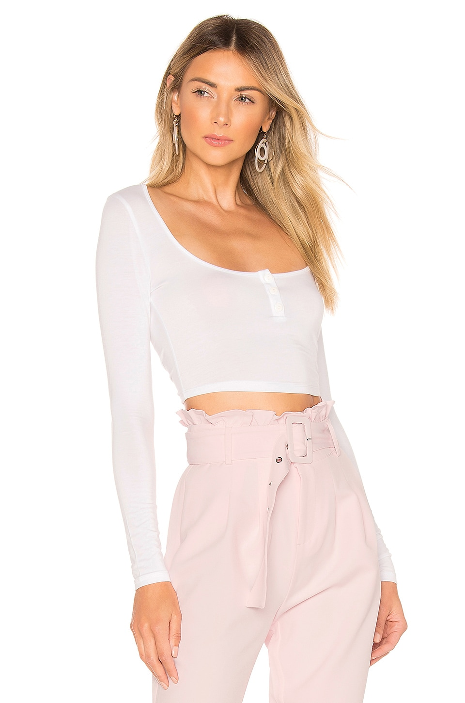 Lovers + Friends Daisie Top en White