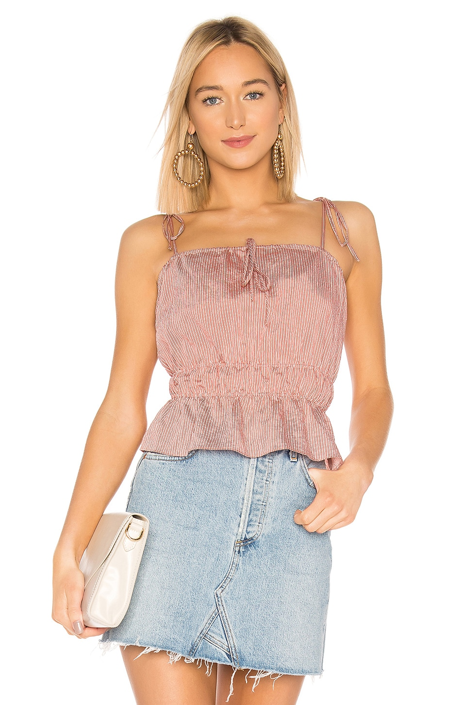 Lovers + Friends Hallie Top in Burnt Red