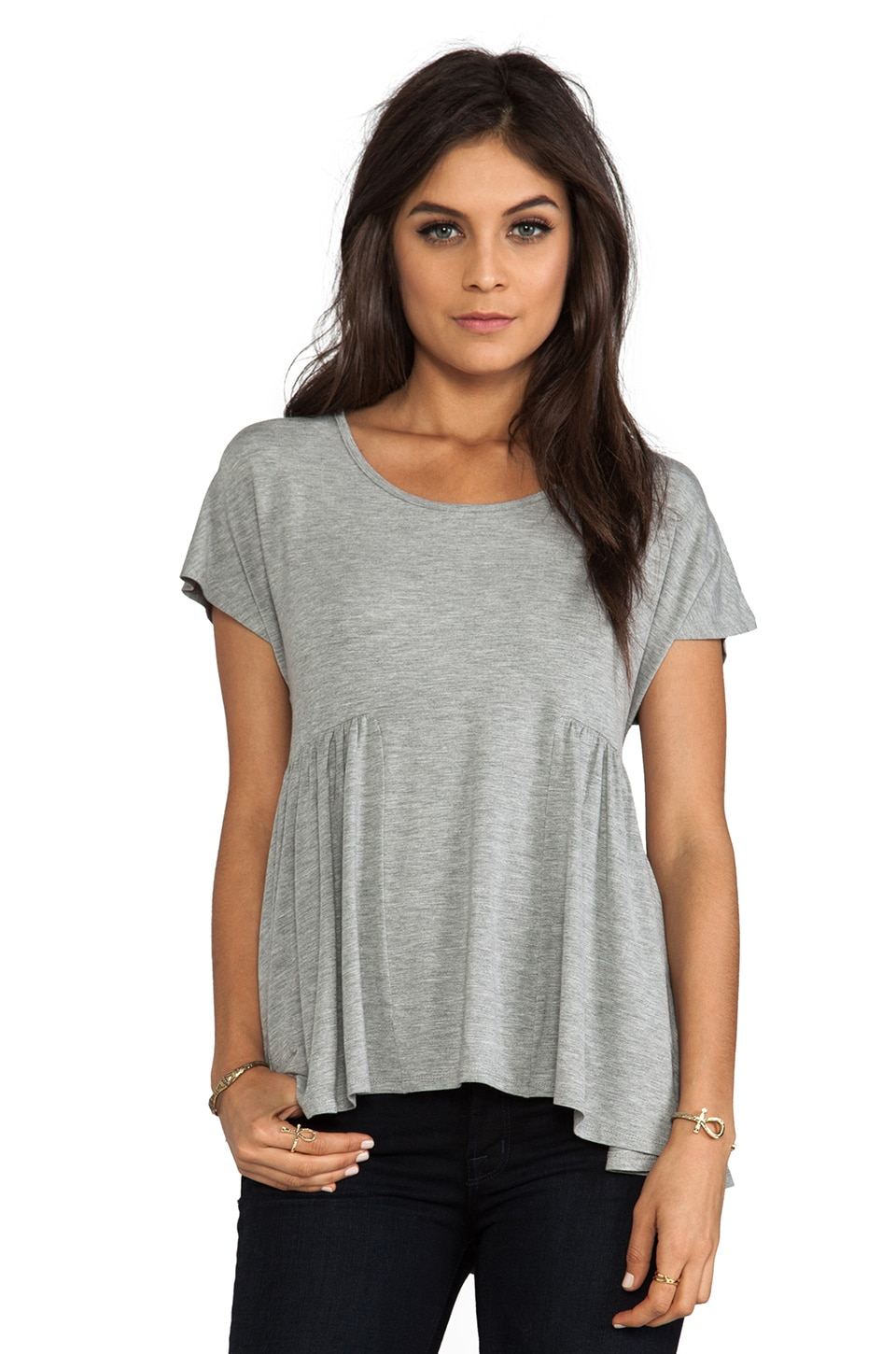 Lovers + Friends Take Me There Top in Heather Grey