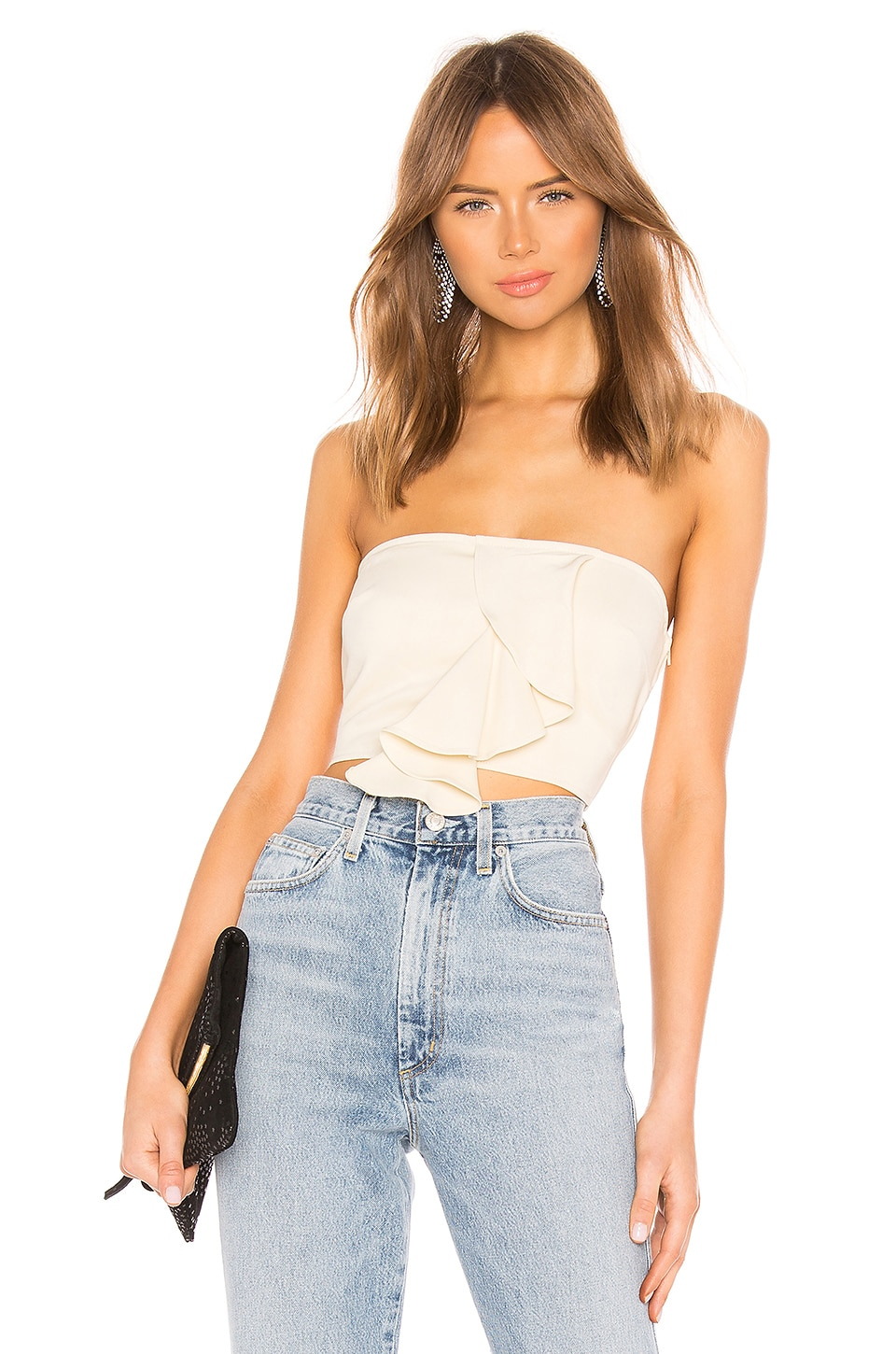 Lovers + Friends Sway Away Crop Top in Ivory