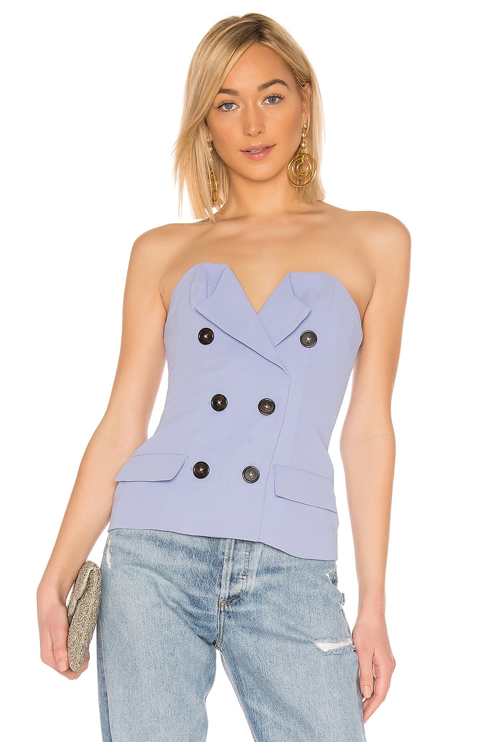 Lovers + Friends Beverly Top in Periwinkle