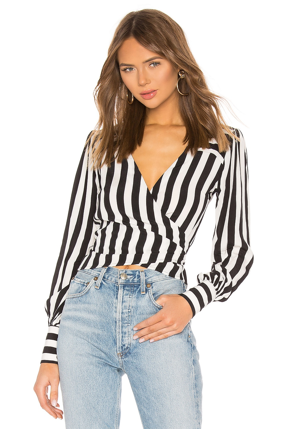 Lovers + Friends Carlyn Top in Black & White