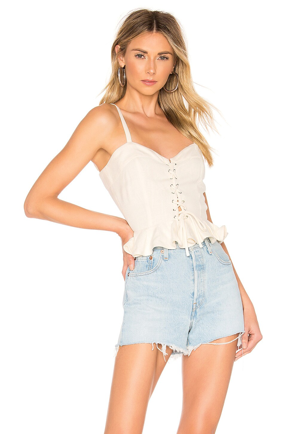 Lovers + Friends TOP À LACETS STACEY