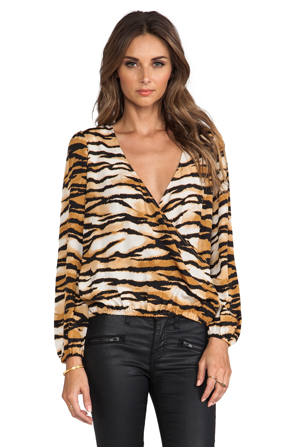 Lovers + Friends Lovely Long sleeve Top in Wildcat
