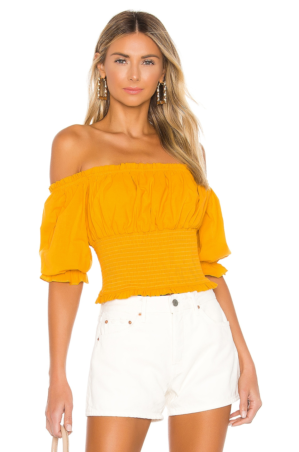 Lovers + Friends Lydia Top in Sunflower Yellow