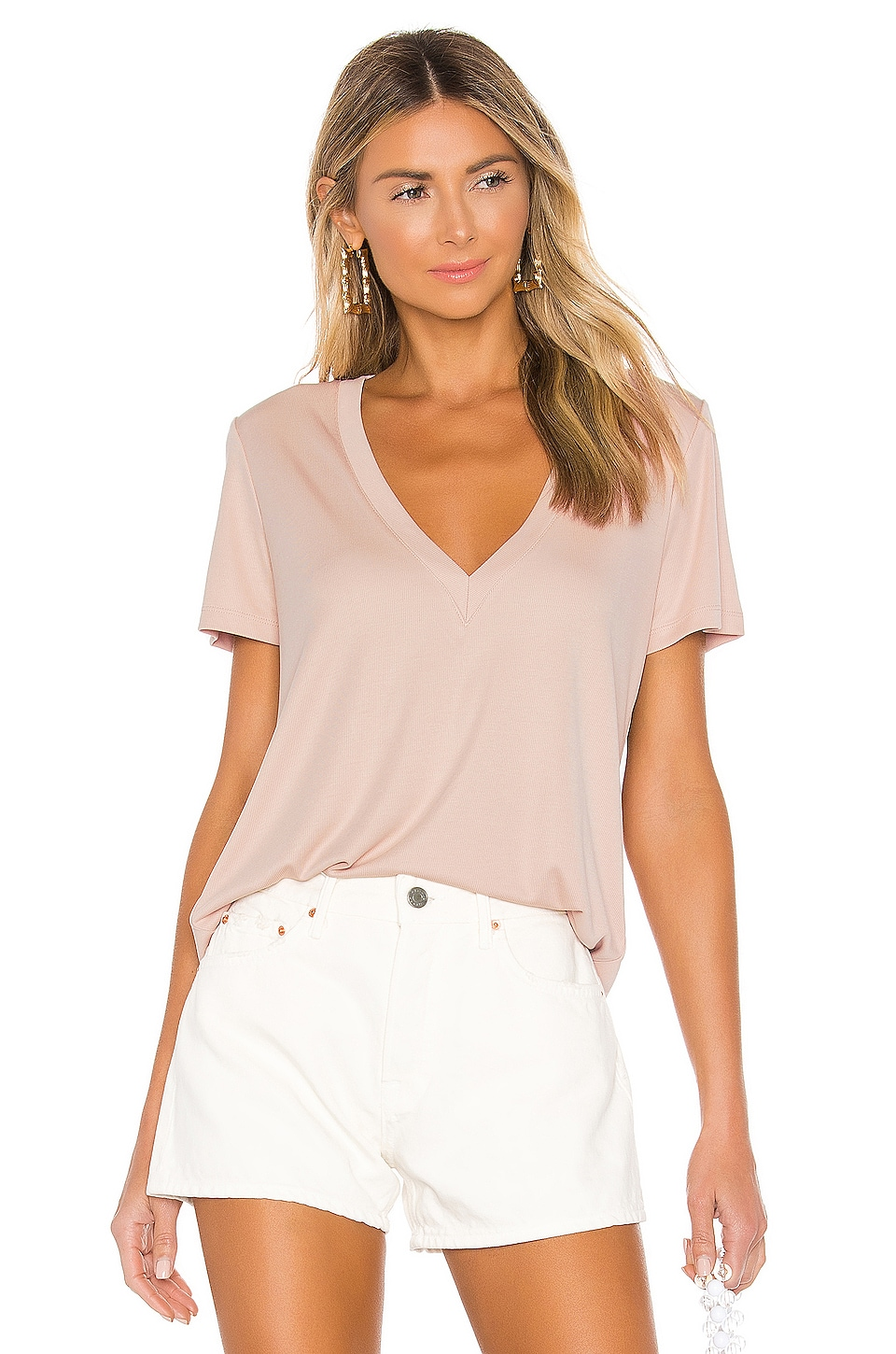 Lovers + Friends Feel Good Tee in Blush