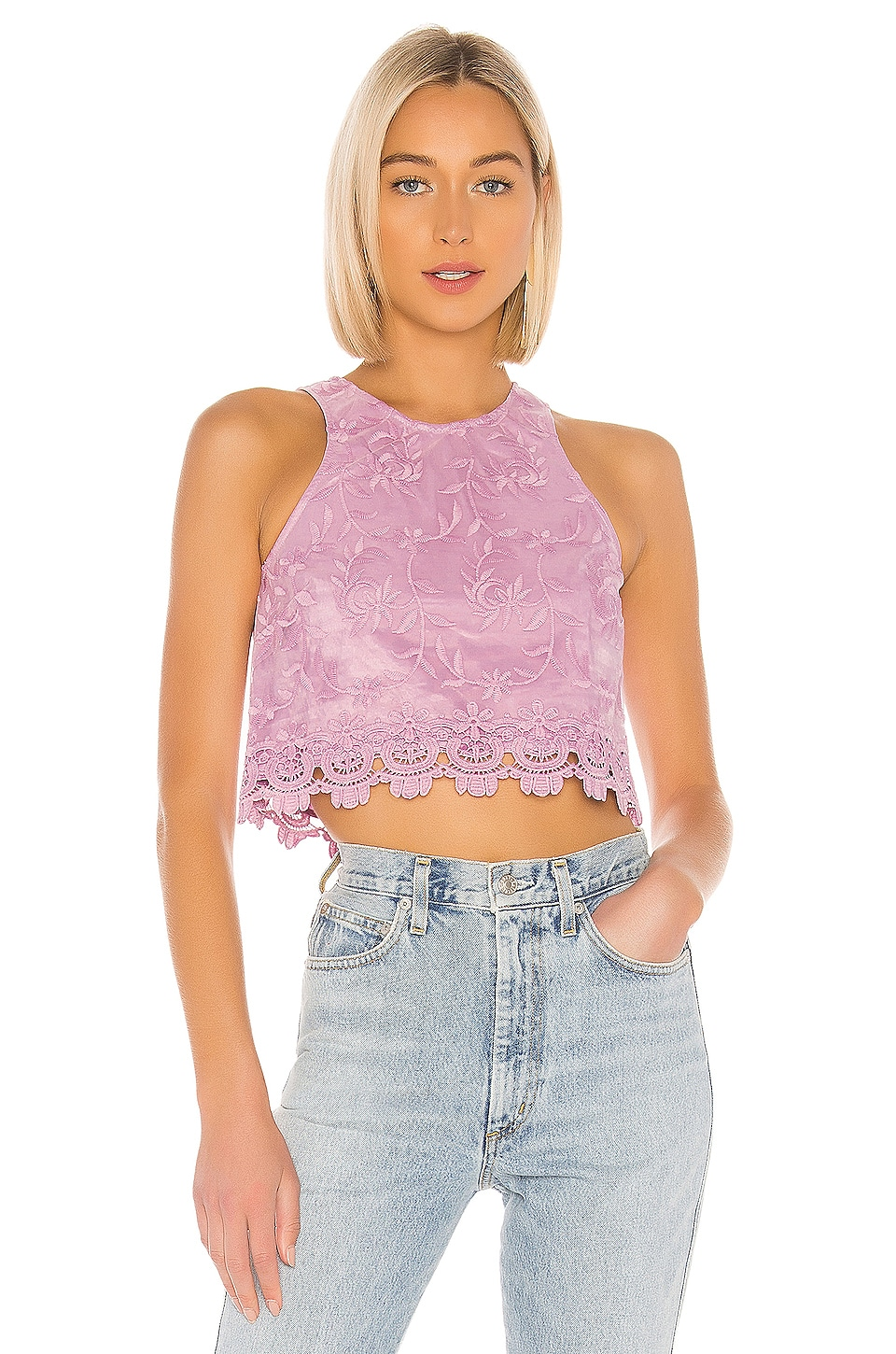 Lovers + Friends Milo Top en Lilac Purple