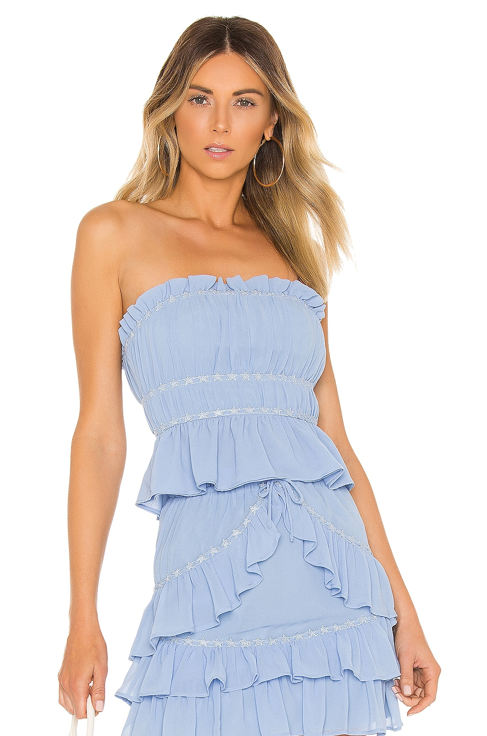 Lovers + Friends Holly Top in Powder Blue