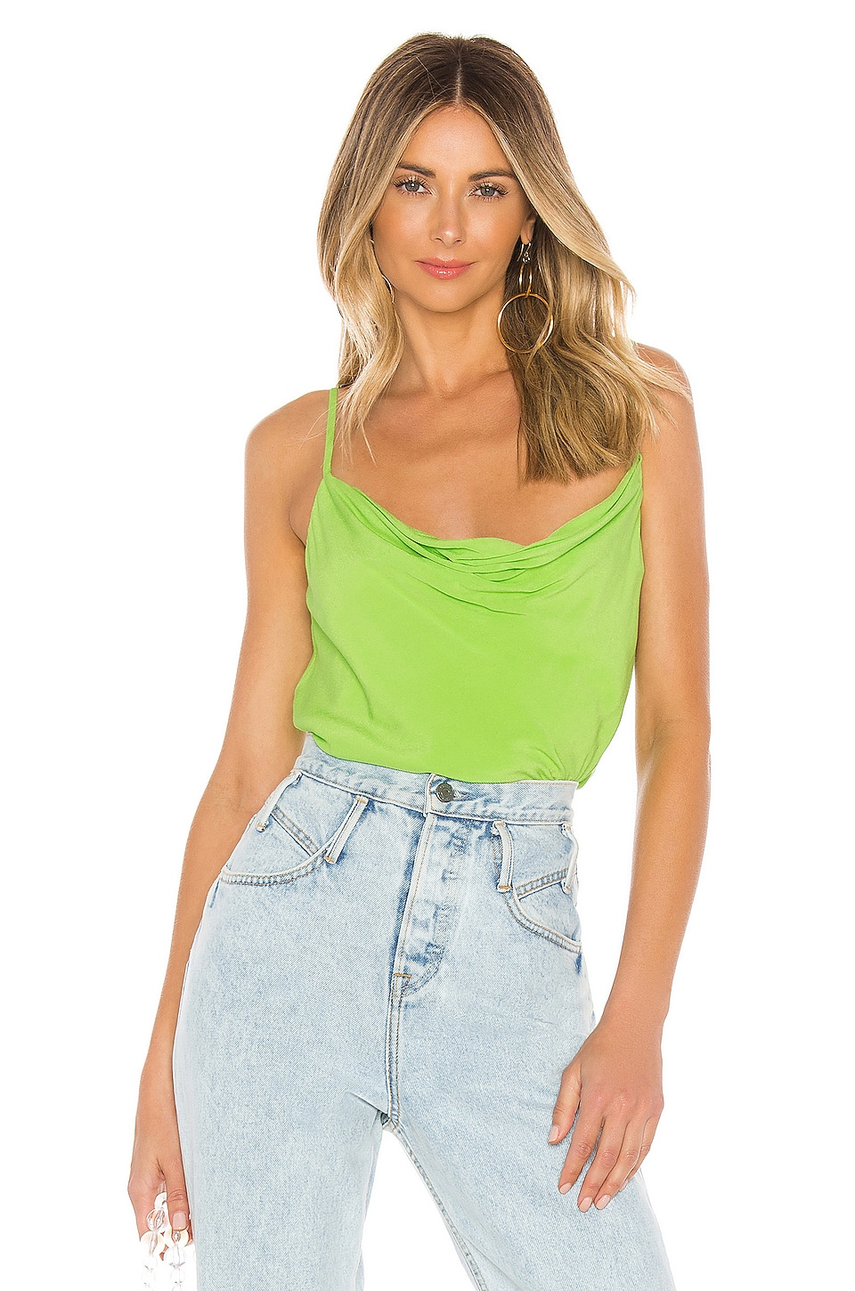 Lovers + Friends Rhode Cami in Lime Green