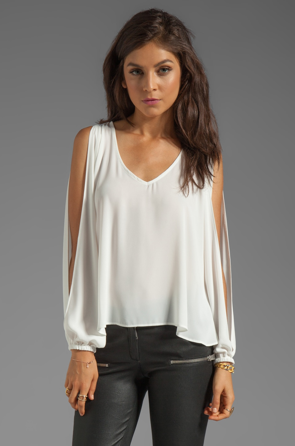 Lovers + Friends Day Dream Blouse in White