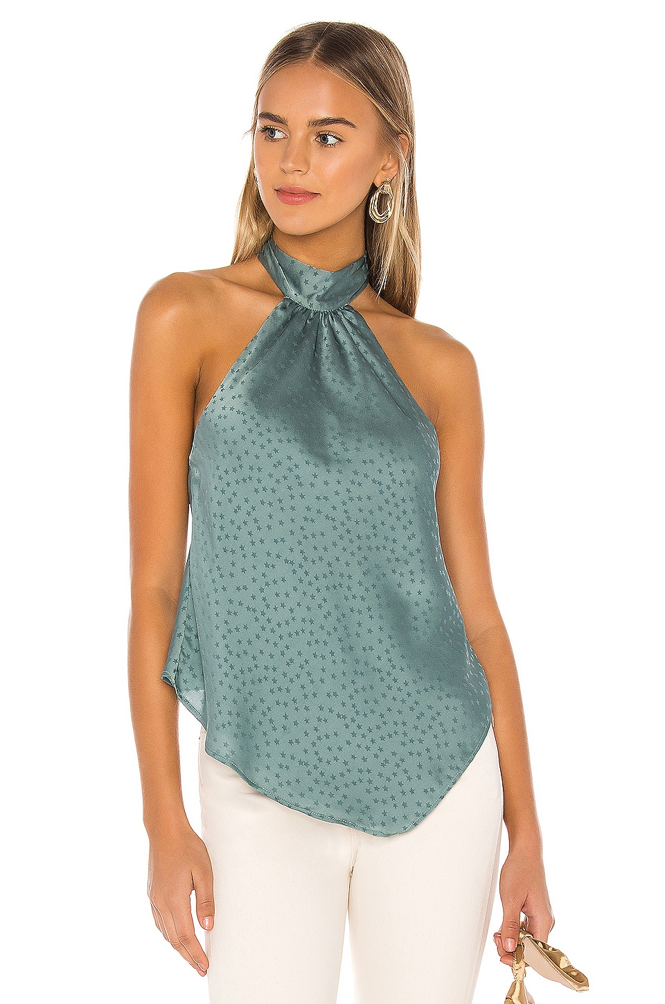 Lovers + Friends Maddox Top in Pacific Blue