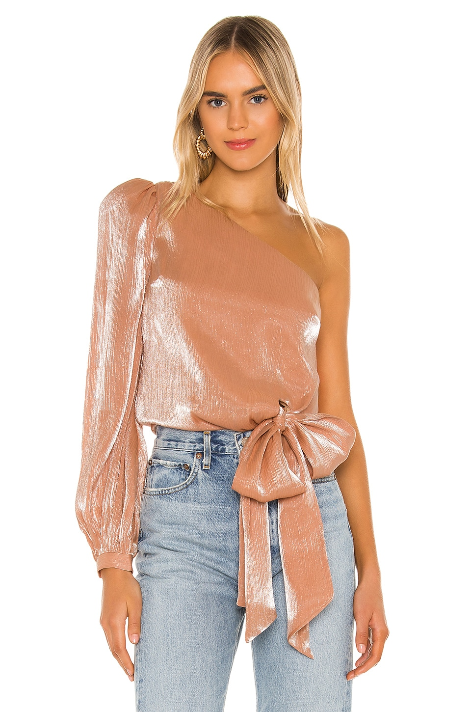Lovers + Friends Kendall Blouse in Peach Pink