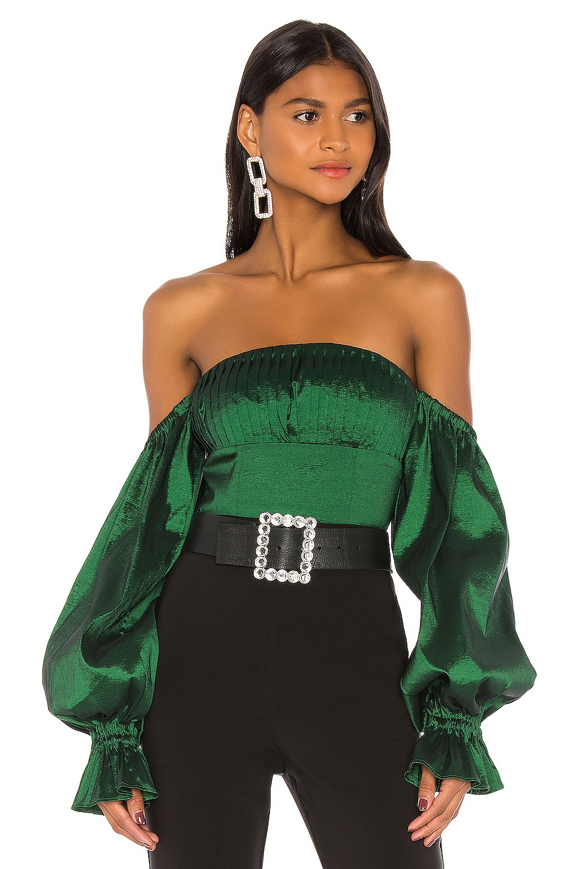 Lovers + Friends Fraya Top in Emerald