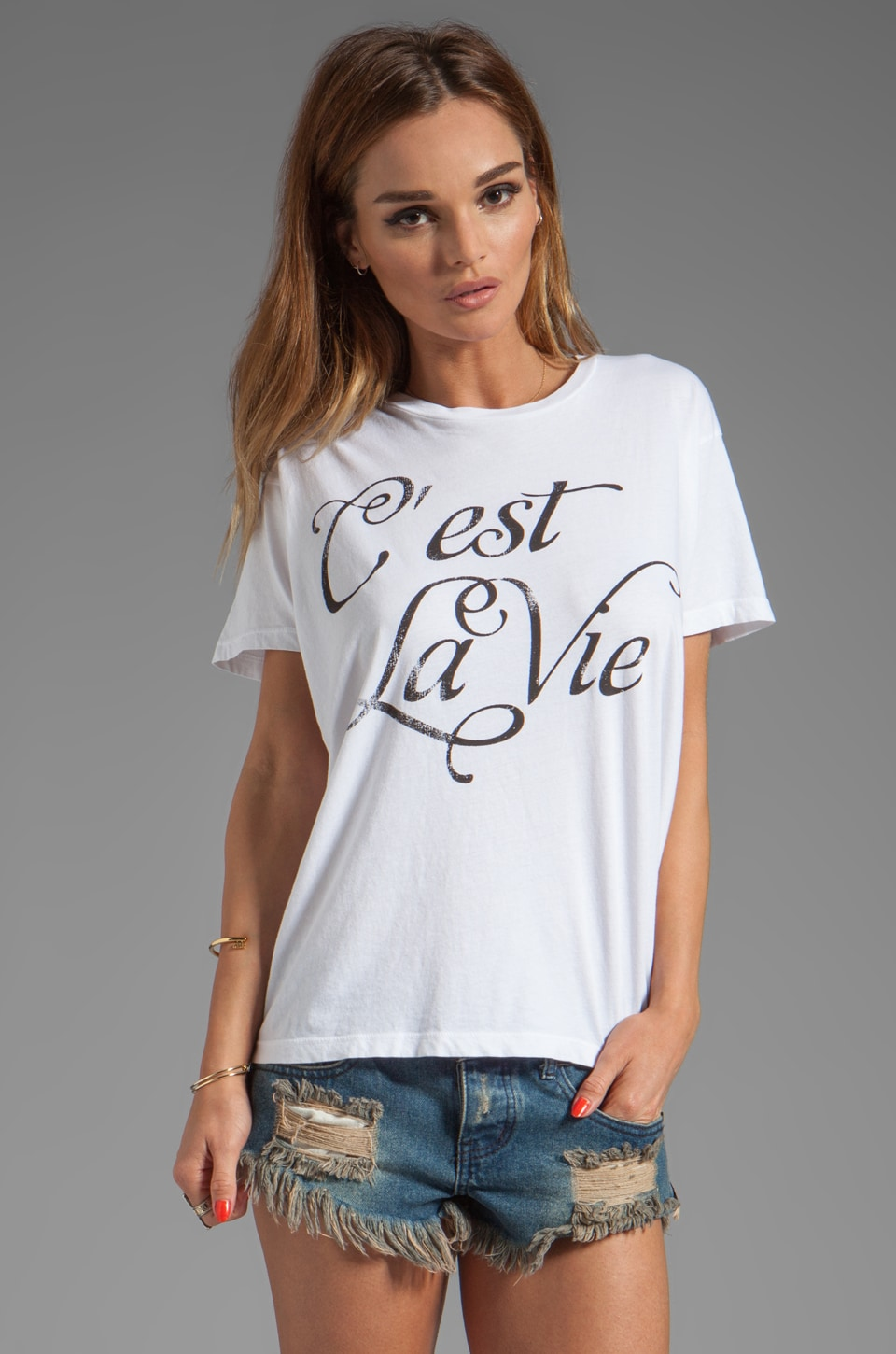 Lovers + Friends Basic Tee in C'est La Vie
