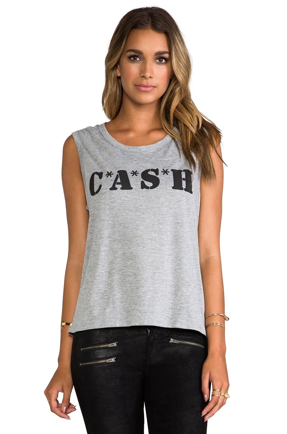 Lovers + Friends for REVOLVE CASH Muscle Tank in Grey