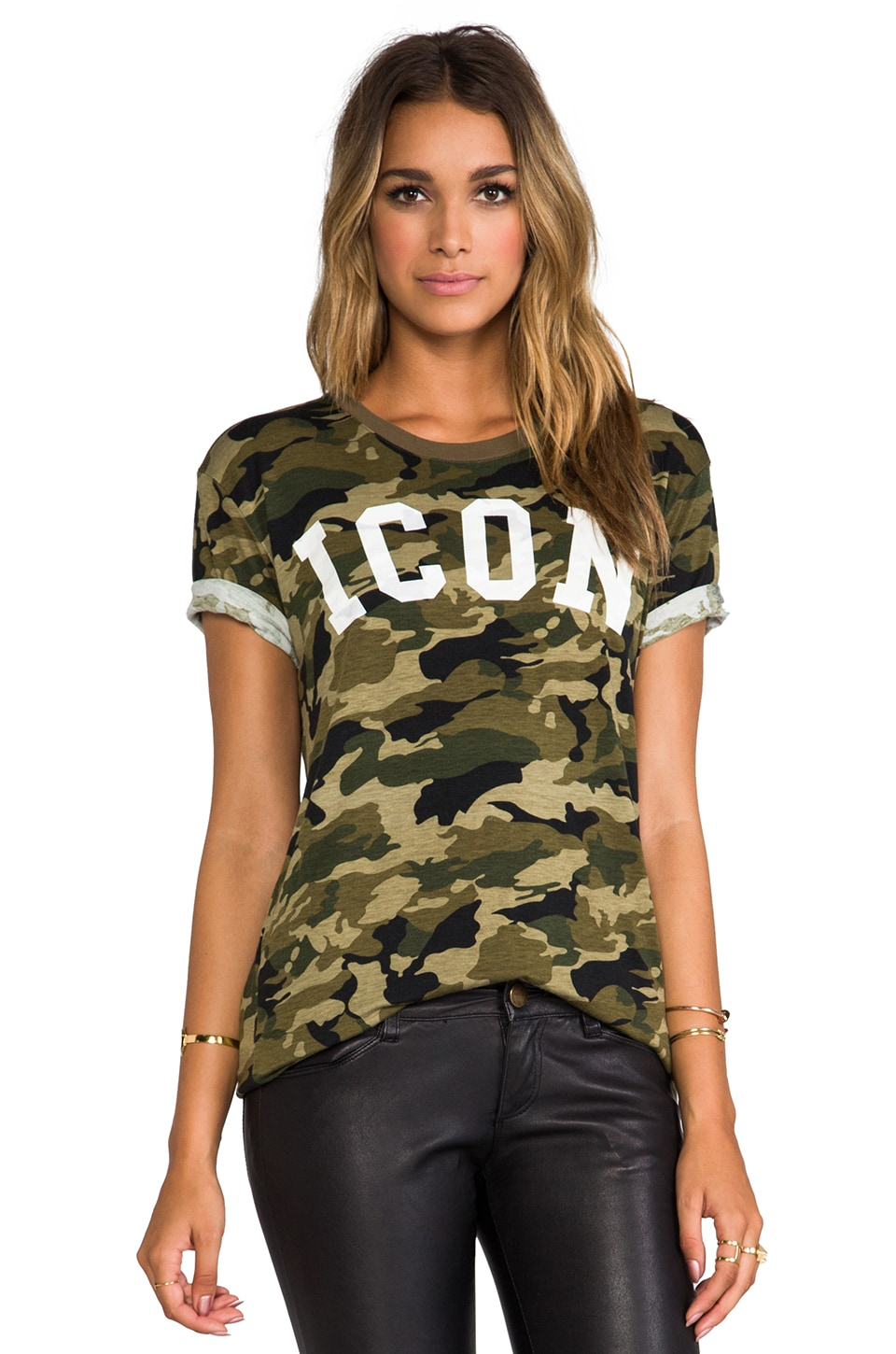 Lovers + Friends for REVOLVE Icon Relaxed Tee in Camo