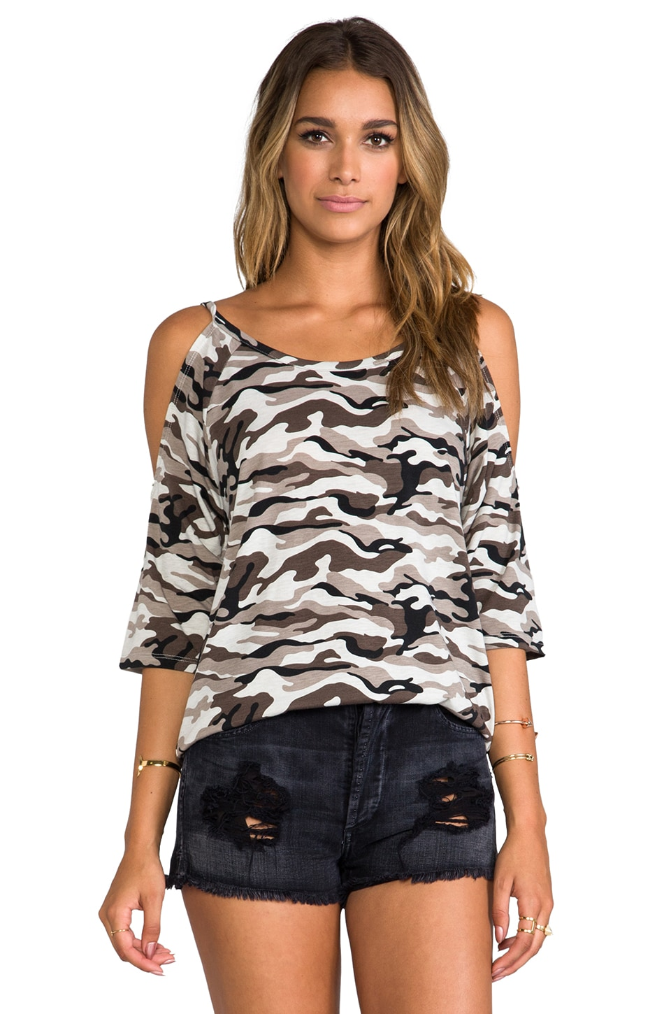 Lovers + Friends for REVOLVE Lizzie Top in Grey Camo