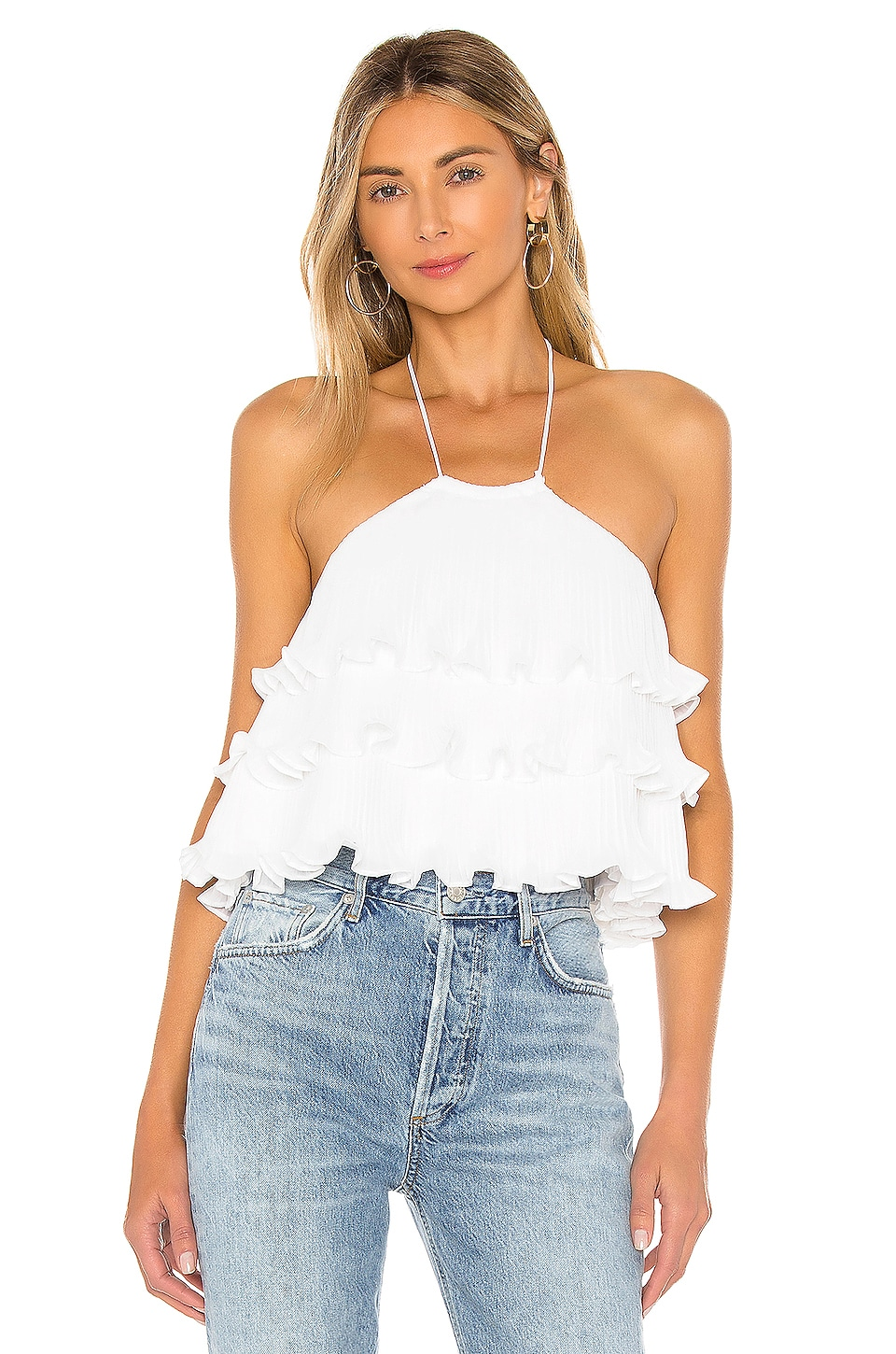 Lovers + Friends Freesia Top in White