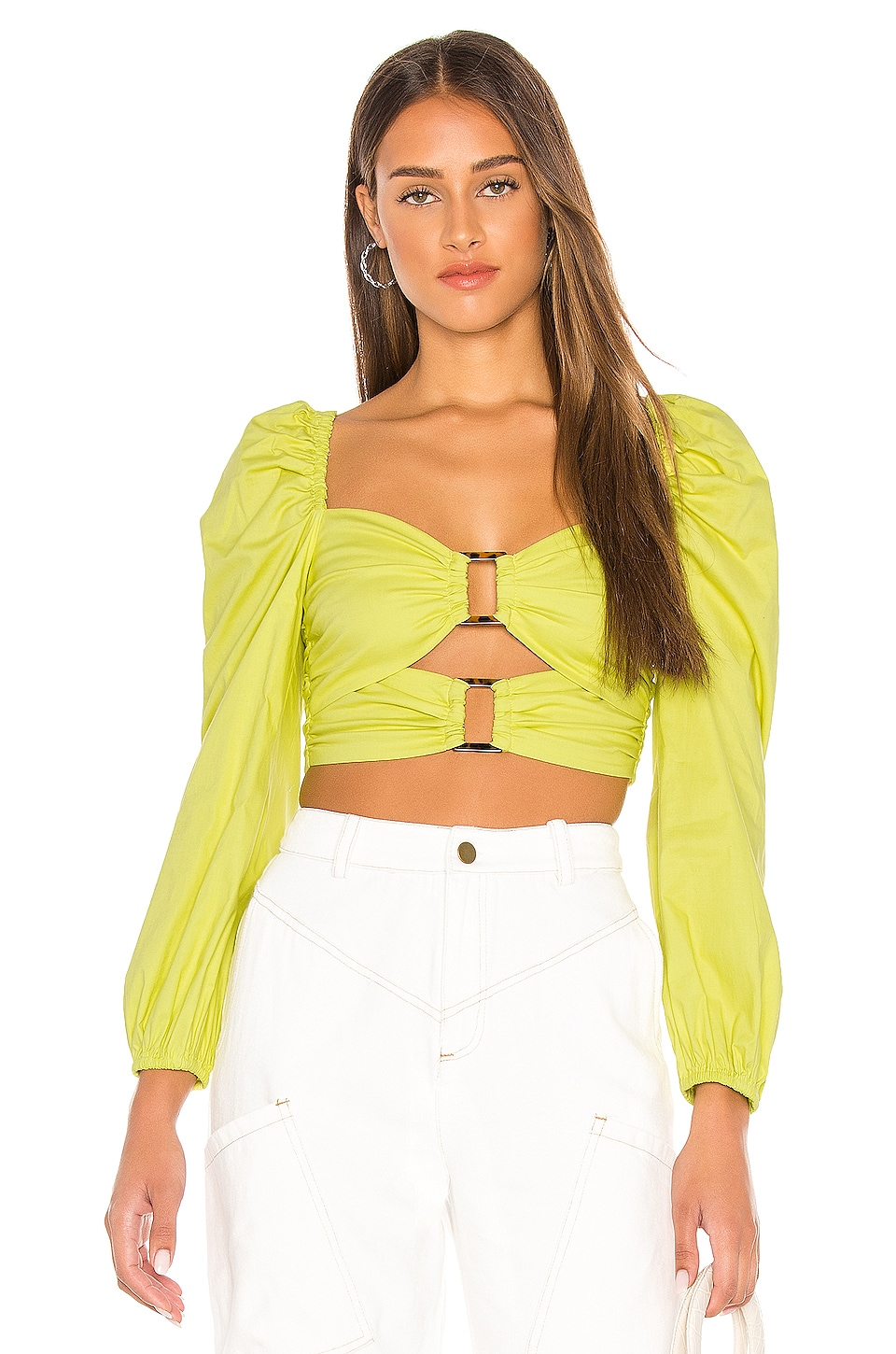 Lovers + Friends Delilah Top in Light Lime